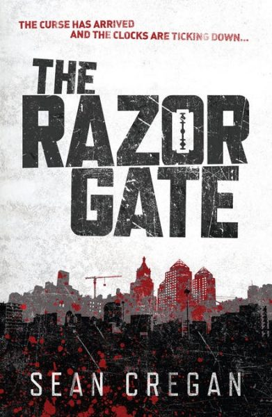 The Razor Gate title hovers over the silhouette of a city