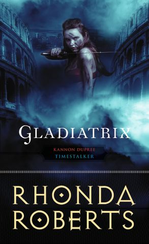 Gladiatrix: a woman wields a sword while standing in a Roman arena