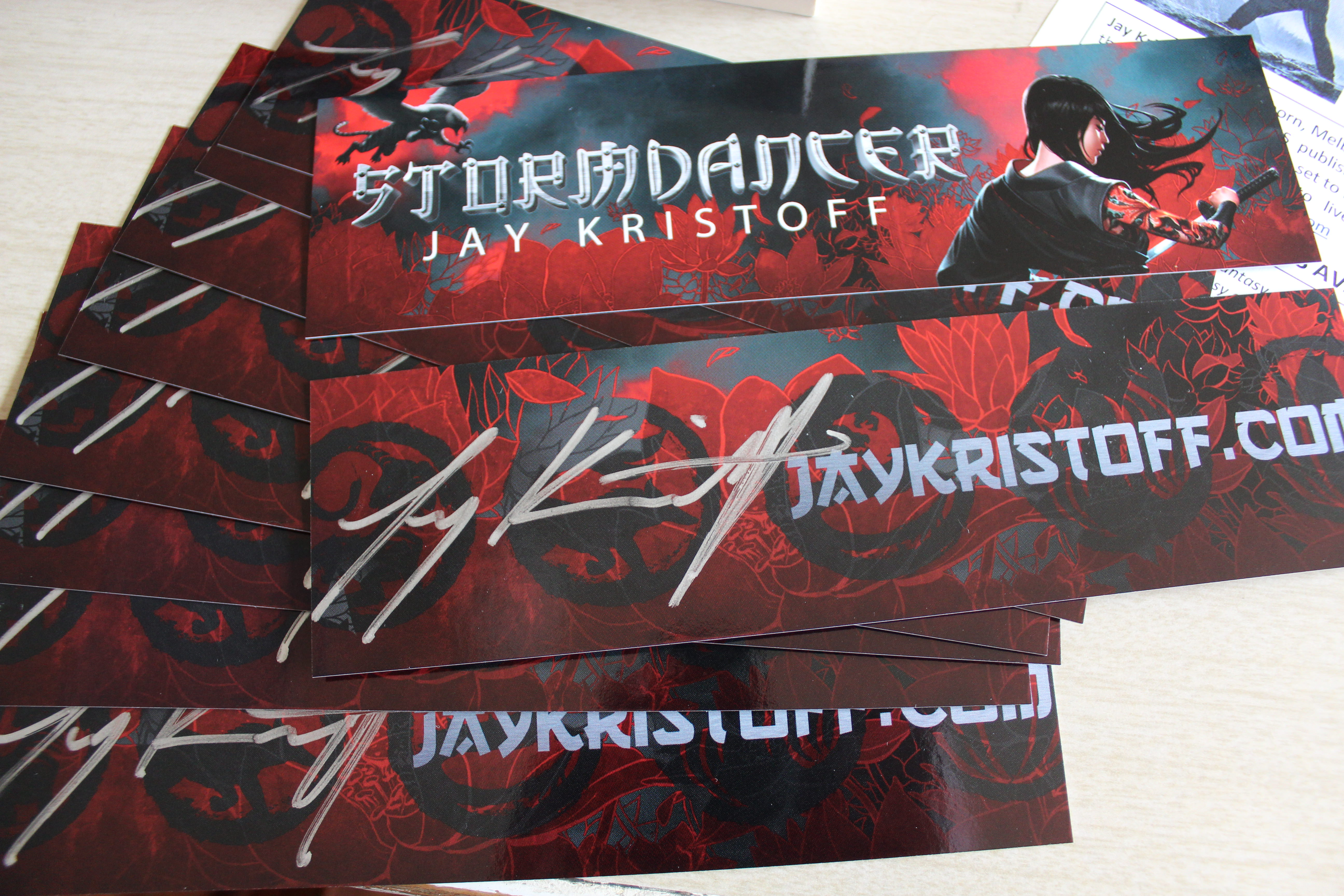 Stormdancer bookmarks