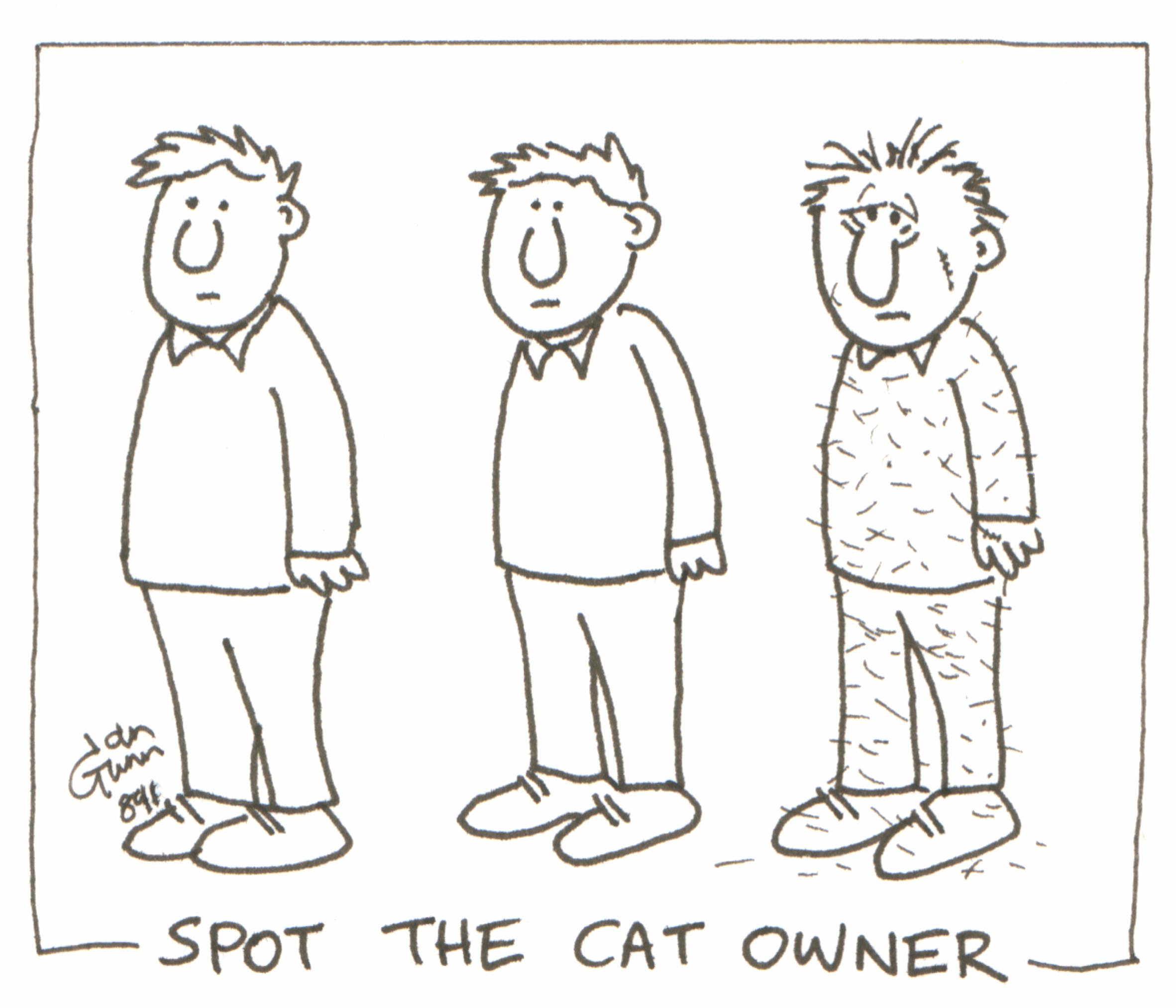 spot the cat owner by Ian Gunn