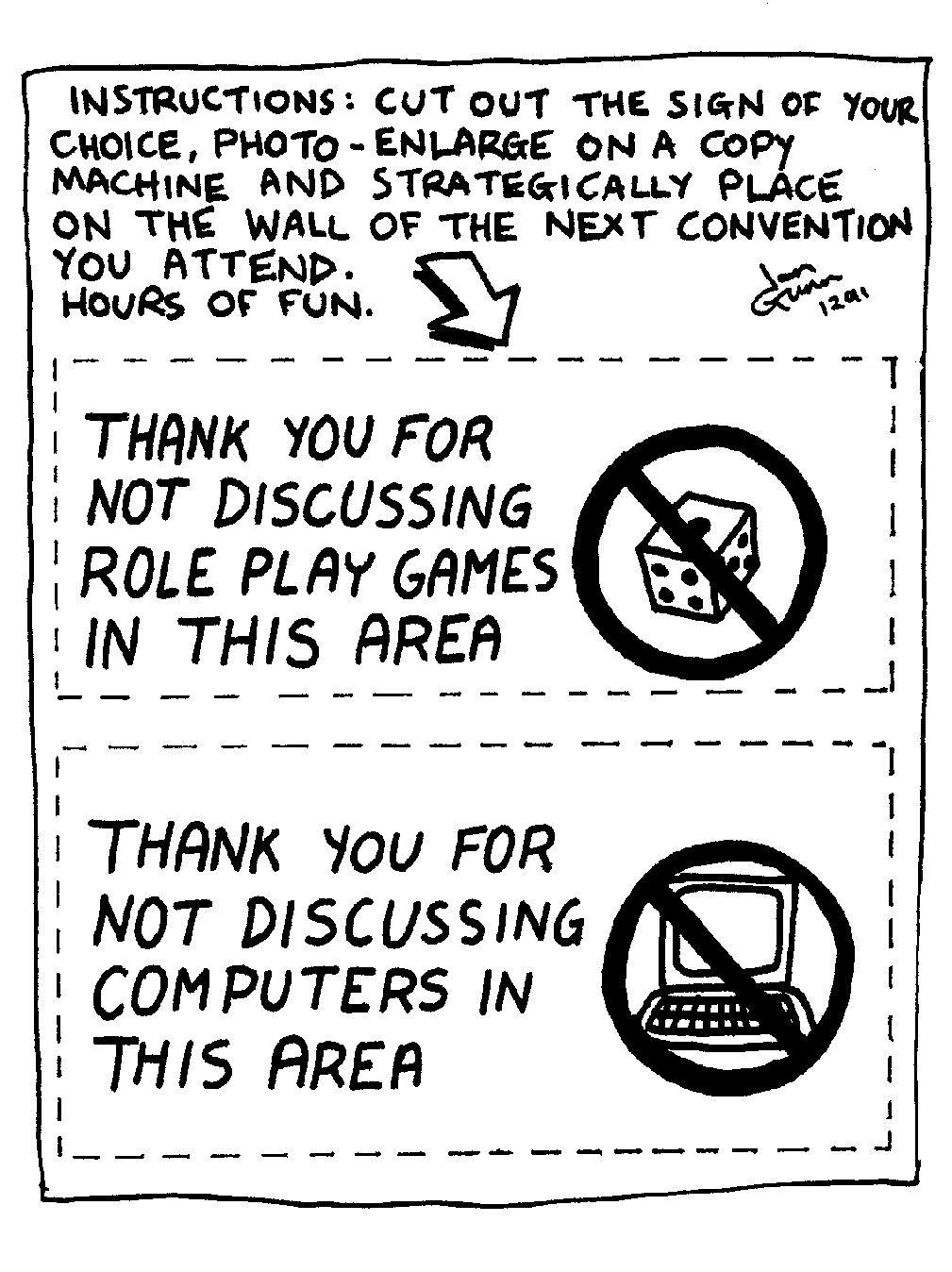 Convention signs by Ian Gunn