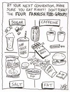 Fanfood: a silly illo by Ian Gunn