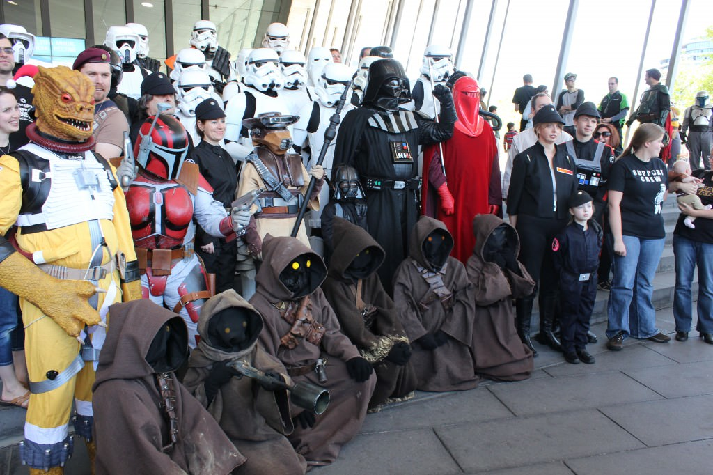 Cosplay - a family affair. Members of the 501st, Rebel Legion and Galactic Academy (the kiddies)