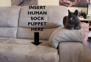 Human sock puppet