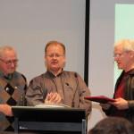 Bill Wright, Jonathan Strahan and Jack Dann