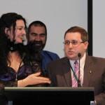 Kirstyn McDermott with John Richards and Ian Mond