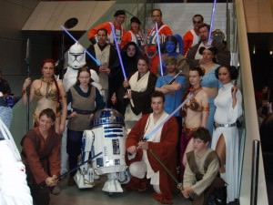 Seth Green with cosplayers