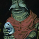 Rygel from Farscape, acrylic on canvas, Nalini Haynes, Dark Matter Issue 02 cover