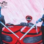 Girl Torque: acrylic on canvas, Nalini Haynes, Dark Matter issue 03 cover