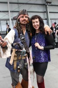 Brett Butt as Captain Jack with Isobelle Carmody