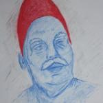 Papa SMoF: dry pastel on paper by Nalini Haynes, Dark Matter 10