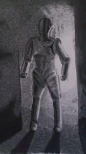 Doctor Who art: The Last Cyberman by Nalini Haynes