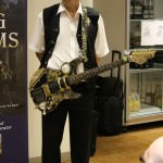 Richard Harland with steampunk guitar