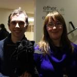 Y and Tsana Dolichva with Edgar Allan Purr