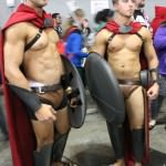 The male equivalent to the chainmail bikini - the leather codpiece!
