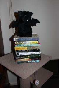 Edgar Allan Purr atop Items received