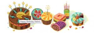 Google wishes Nalini a Happy Birthday