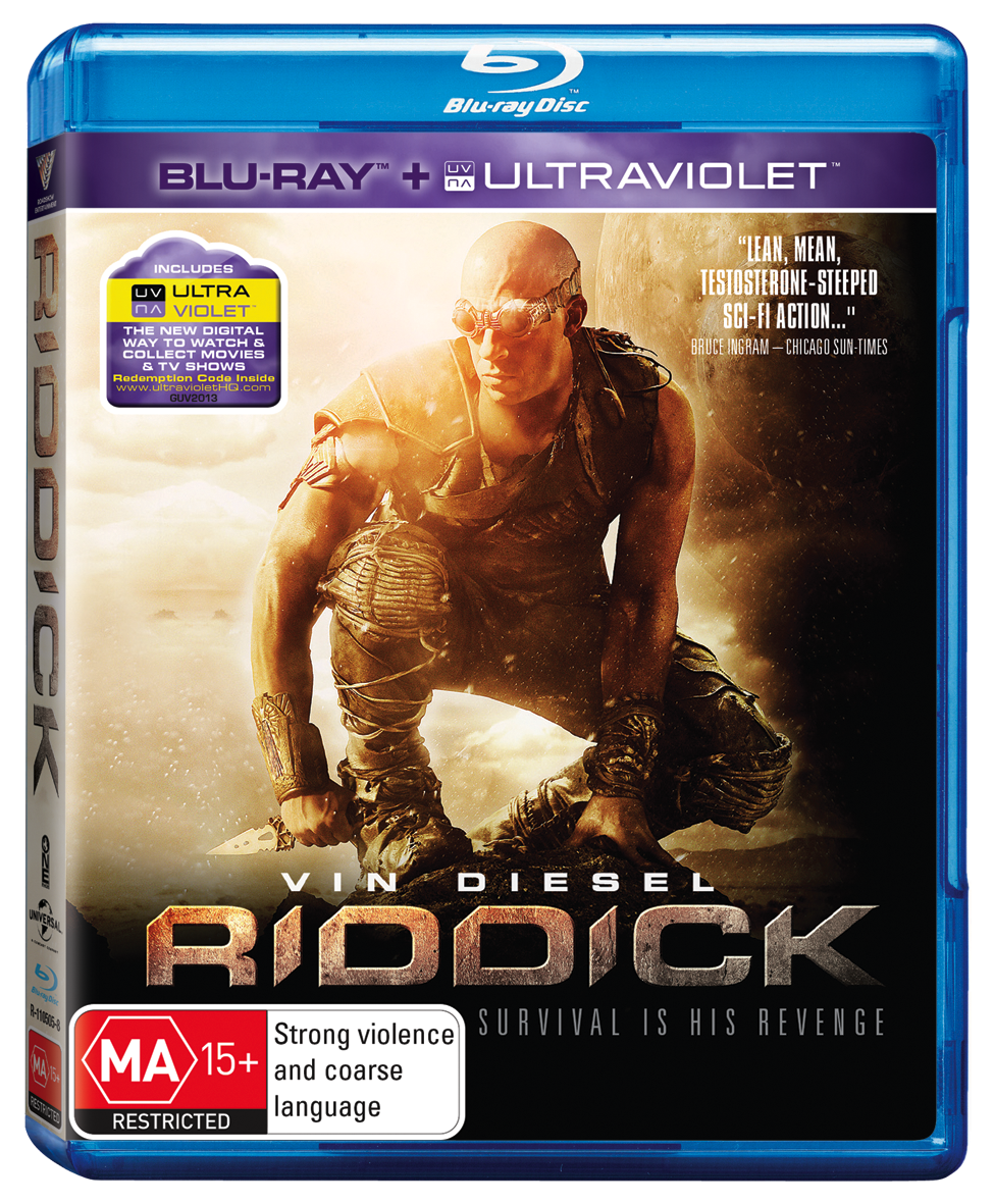 Competition closed: Riddick DVDs and blurays to give away