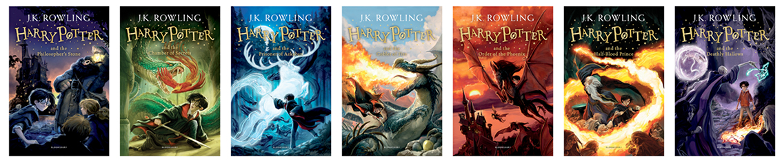 Harry Potter last 4 covers