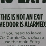 This door suffers from paranoia - or does it?