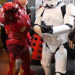 Dalek lurking behind Iron Man and a Storm Trooper
