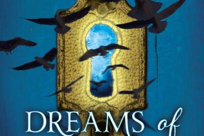 Dreams of Gods and Monsters: birds fliy towards the viewer away from a gigantic keyhole