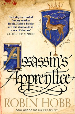 Assassin's Apprentice: a coat of arms sits above the title