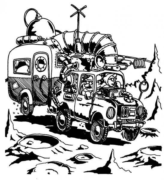 Campervan — a silly illo by Ian Gunn