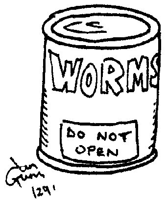 Can of worms — a silly illo by Ian Gunn