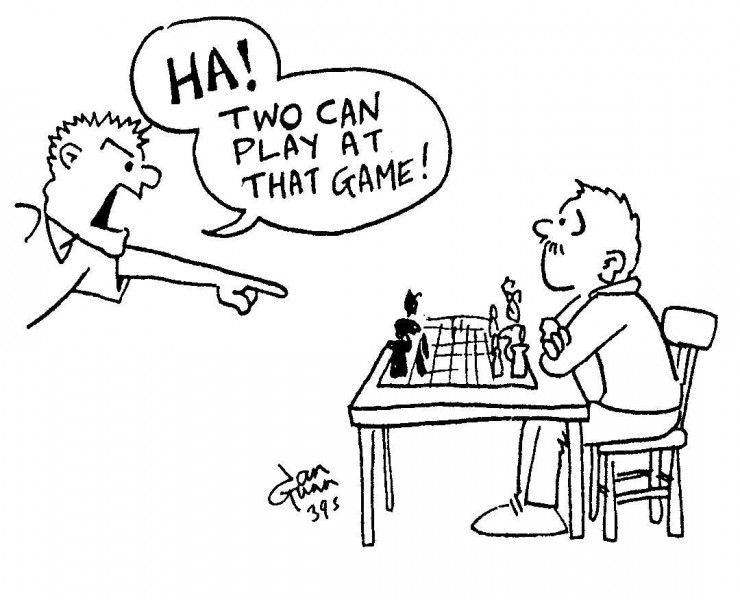 Chess — a silly illo by Ian Gunn