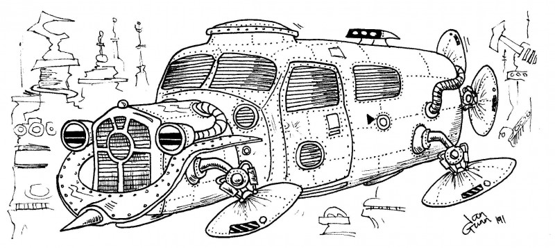 Clunky spaceship