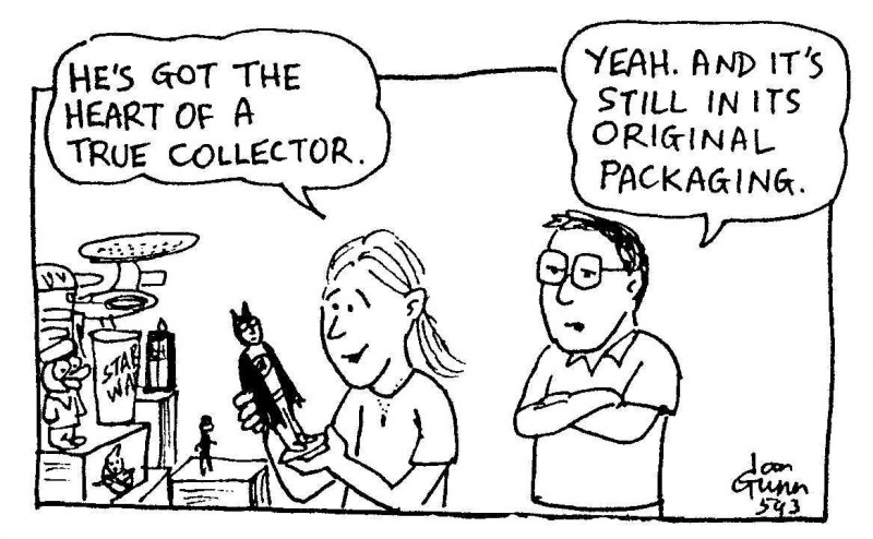 Collector — a silly illo by Ian Gunn