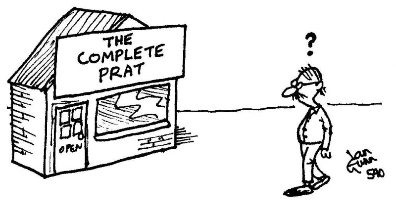 Complete prat — a silly illo by Ian Gunn