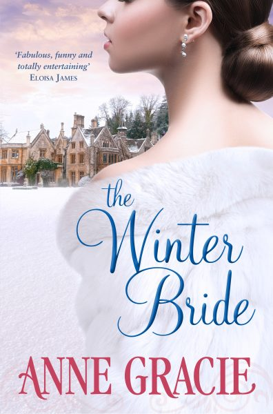 The Winter Bride: a woman is pictured in front of a rambling aristocratic house