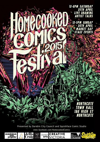 Homecooked Comics Festival Poster