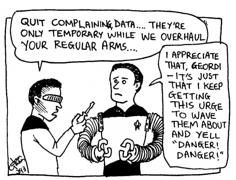 Data Robbie — a silly illo by Ian Gunn