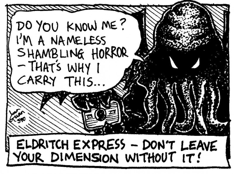 Eldritch Express — a silly illo by Ian Gunn