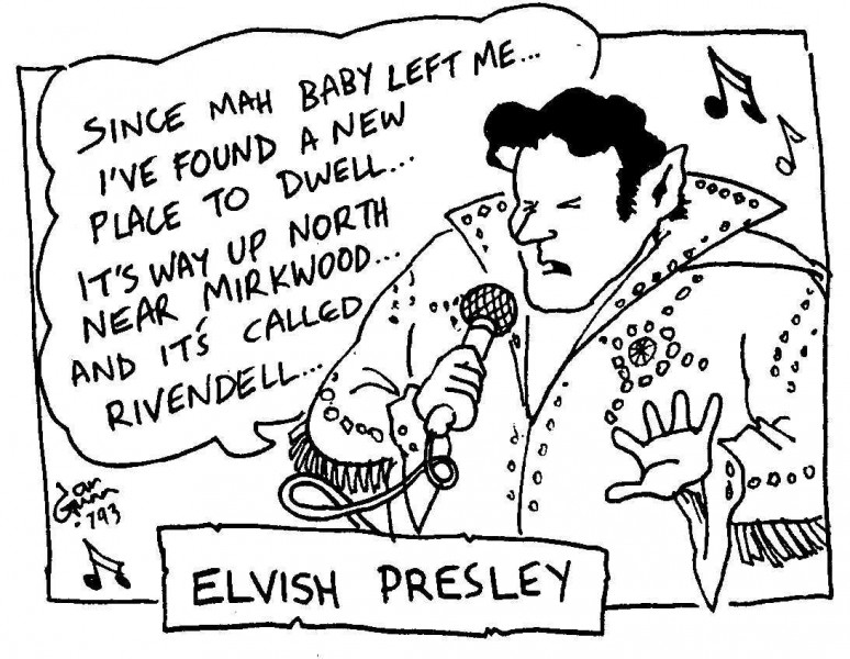 Elvish Presley — a silly illo by Ian Gunn