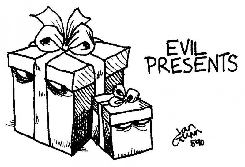 Present evil or Evil Presents? A silly illo from Ian Gunn