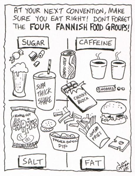 Fanfood — a silly illo by Ian Gunn