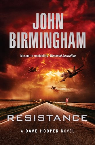 resistance - military aircraft fly into a hellish landscape