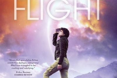 Earth Flight - a young woman looks up at the sky