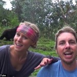Kirsten Bell and Dax Shepard dance with African wildlife