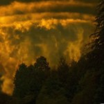 Earth Kills — acid fog looks like a tornado coming down a valley