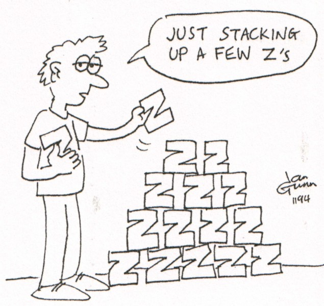 Stacking Z's — a silly illo by Ian Gunn