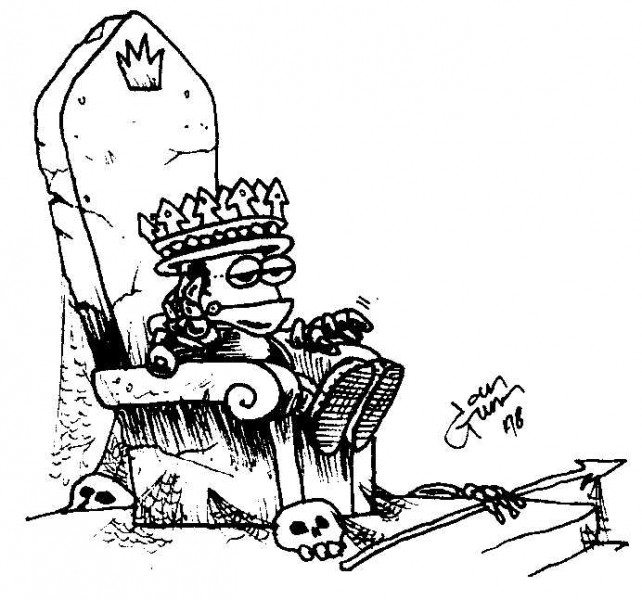Frog King — a silly illo by Ian Gunn