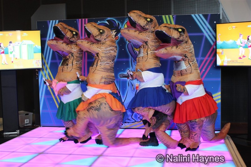 Cosplay dancing Sailor Moon dinosaurs. Who's your favourite Sailor Moon character?