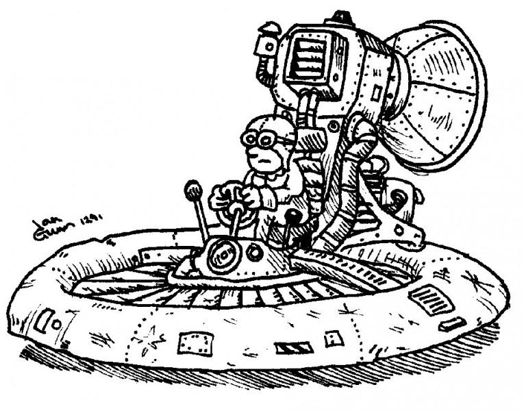 Hovercraft — a silly illo by Ian Gunn
