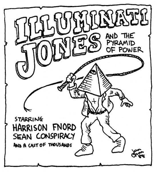 Illuminati Jones — a silly illo by Ian Gunn