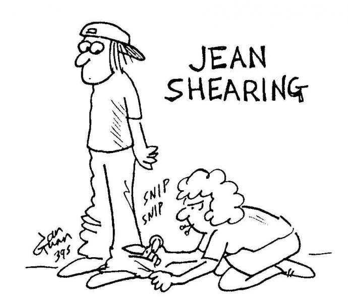 Jean Shearing (not what you think) — a silly illo by Ian Gunn